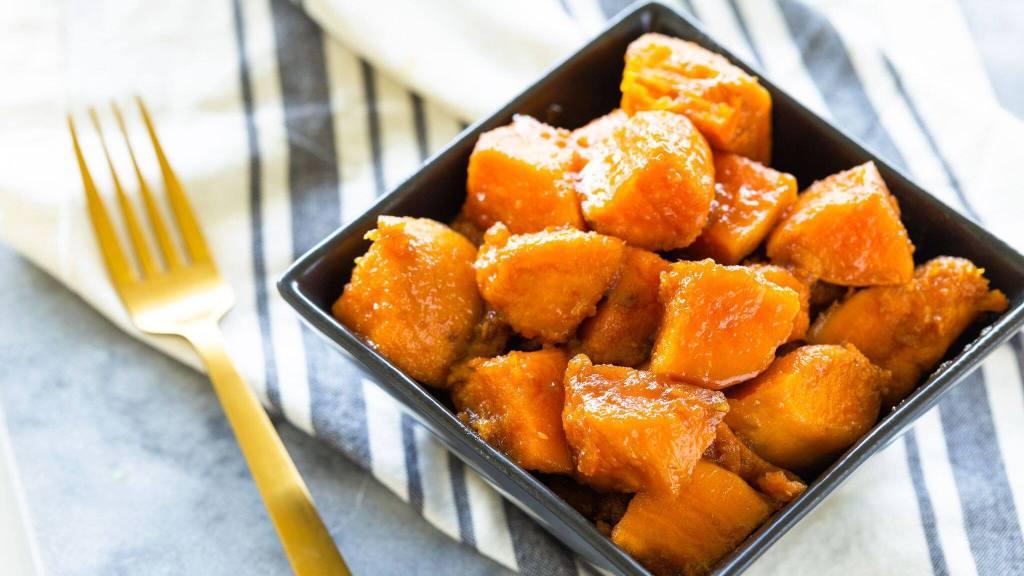 Glazed Yams With Cinnamon And Nutmeg