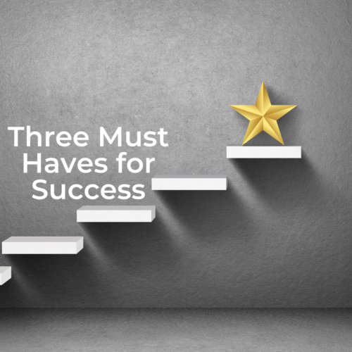 Three Must Haves for Success